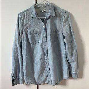 Old Navy light blue jean shirt